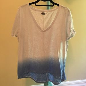 aerie ombre dip oversized shirt